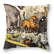 Republican Elephant, 1874 Throw Pillow by Granger