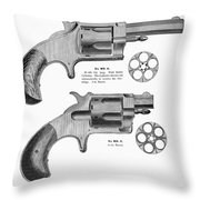 Revolvers, 19th Century Throw Pillow by Granger