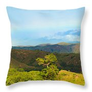 Rinca Panorama Throw Pillow by MotHaiBaPhoto Prints