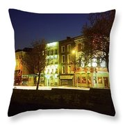 River Liffey, Dublin, Co Dublin, Ireland Throw Pillow by The Irish Image Collection