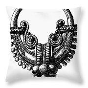 Rome: Gold Earring Throw Pillow by Granger