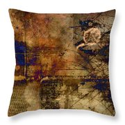 Royal Gold Throw Pillow by Christopher Gaston