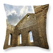 Ruins Of A Church In South Glengarry Throw Pillow by Sandra Cunningham