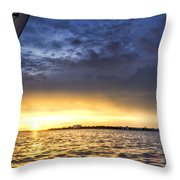Sailing Sunset Charleston Sc Throw Pillow by Dustin K Ryan