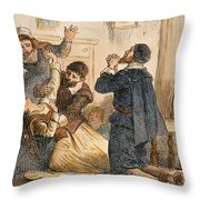 Salem Witchcraft, 1692 Throw Pillow by Granger