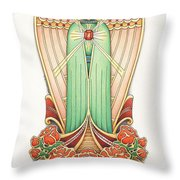 Scroll Angel - Roselind Throw Pillow by Amy S Turner
