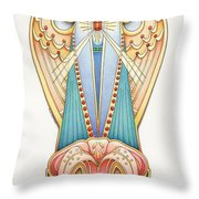 Scroll Angels - Lillium Throw Pillow by Amy S Turner