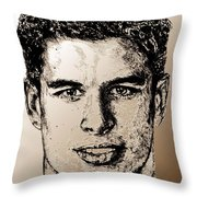 Sidney Crosby In 2007 Throw Pillow by J McCombie