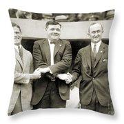 Sisler, Ruth & Cobb, 1924 Throw Pillow by Granger