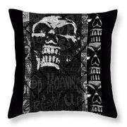 Skull Montage Throw Pillow by Roseanne Jones