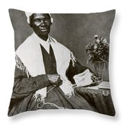 Sojourner Truth, African-american Throw Pillow by Photo Researchers