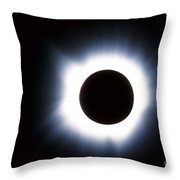Solar Eclipse Throw Pillow by Stocktrek Images