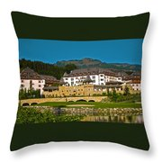Spa Resort A-rosa - Kitzbuehel Throw Pillow by Juergen Weiss