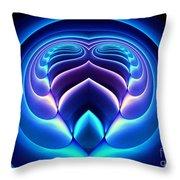 Spiral-3 Throw Pillow by Klara Acel