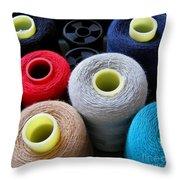 Spools Of Yarn Throw Pillow by Yali Shi