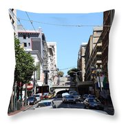 Stockton Street Tunnel in San Francisco Throw Pillow by Wingsdomain Art and Photography