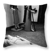 Stripped Saints Throw Pillow by Gaspar Avila