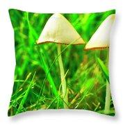 Stump Fairy Helmet Throw Pillow by Thomas R Fletcher