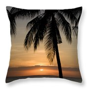 Sunrise At Bali Island Throw Pillow by Tim Laman