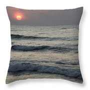 Sunrise Over Arabian Sea Hawf Protected Throw Pillow by Sebastian Kennerknecht