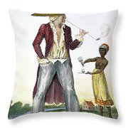 Surinam: Slave Owner, 1796 Throw Pillow by Granger