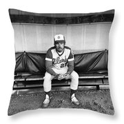 Ted Turner (1938- ) Throw Pillow by Granger