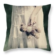 Teddy Bear Throw Pillow by Joana Kruse