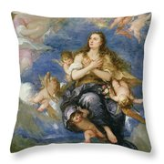 The Assumption of Mary Magdalene Throw Pillow by Jose Antolinez