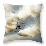 the ballet under the skies Throw Pillow by Angel  Tarantella
