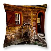 The Blacksmith Shop Throw Pillow by David Patterson