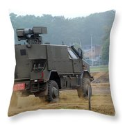 The Dingo 2 In Use By The Belgian Army Throw Pillow by Luc De Jaeger