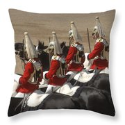 The Household Cavalry Performs Throw Pillow by Andrew Chittock