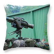 The Milan, Guided Anti-tank Missile Throw Pillow by Luc De Jaeger