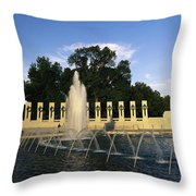 The Pacific Pavilion And Pillars Throw Pillow by Richard Nowitz