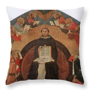 Thomas Aquinas, Italian Philosopher Throw Pillow by Photo Researchers
