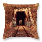 Train Tunnel At The Muir Trestle In Martinez California . 7d10220 Throw Pillow by Wingsdomain Art and Photography