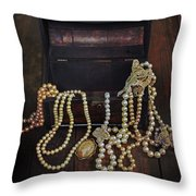 treasure chest Throw Pillow by Joana Kruse