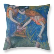 Two Dancers Throw Pillow by Edgar Degas
