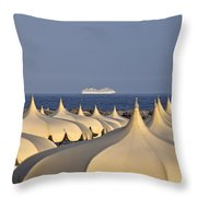Umbrellas In The Sun Throw Pillow by Joana Kruse