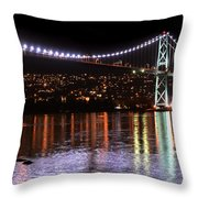 Vancouver British Columbia 5 Throw Pillow by Bob Christopher