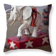 White Elephant Throw Pillow by Garry Gay