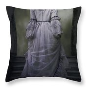 Woman On Steps Throw Pillow by Joana Kruse