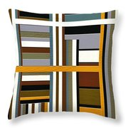 Work Throw Pillow by Ely Arsha