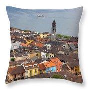 Ascona - Ticino Throw Pillow by Joana Kruse
