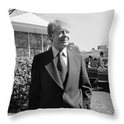Jimmy Carter (1924- ) Throw Pillow by Granger