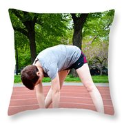 Stretching Exercises Throw Pillow by Photo Researchers