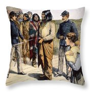 Geronimo (1829-1909) Throw Pillow by Granger
