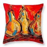 Pears Throw Pillow by Mark Kazav