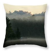 Lake Of The Woods, Ontario, Canada Throw Pillow by Keith Levit