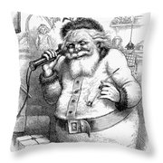 Thomas Nast: Santa Claus Throw Pillow by Granger
